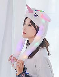 Недорогие -LED освещение единорог шляпа Мерцание 3D в мультяшном стиле Фланель Детские Взрослые Все Игрушки Подарок 1 pcs