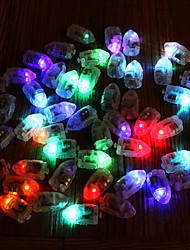 Недорогие -Мини красочные пуля воздушный шар огни светодиодные вспышки лампы бумажный фонарь фитиль пластиковые свечение флэш-свадьба украшение