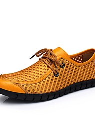 billige -Herre Clunky Sneakers Netting Sommer Oxfords Gul / Blå / Brun