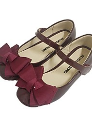 Недорогие -Девочки Удобная обувь Лакированная кожа Обувь на каблуках Маленькие дети (4-7 лет) Черный / Розовый / Винный Лето