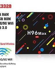 Недорогие -h96 max h2 amlogic rk3328 android 7.1 4 ГБ ddr4 64 ГБ ТВ-бокс двухдиапазонный Wi-Fi LAN Bluetooth Usb3.0 HDMI