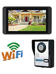 Недорогие -wi-fi 7-дюймовый громкой 1024 * 600 пикселей один на один видео домофон