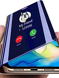Недорогие -смарт-зеркало откидная крышка для Samsung Galaxy Note 10 плюс Galaxy Note 10 прозрачный вид искусственная кожа подставка для откидной крышки