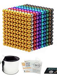 Недорогие -216 pcs 3mm Магнитные игрушки Магнитные шарики Конструкторы Сильные магниты из редкоземельных металлов Неодимовый магнит Неодимовый магнит Стресс и тревога помощи Товары для офиса Своими руками