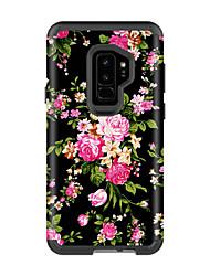 billige -Etui Til Samsung Galaxy S9 / S9 Plus Stødsikker / Vandafvisende Bagcover Landskab / Blomst PC / silica Gel