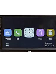 Недорогие -x1 7-дюймовый автомобильный MP5-плеер 12 В FM-радио BT Aux USB с контроллером рулевого колеса красочные HD емкостный экран