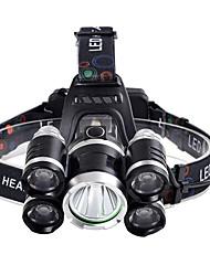 Недорогие -Налобные фонари Фары для велосипеда 800 lm LED 5 излучатели 5 Режим освещения Для профессионалов Походы / туризм / спелеология Повседневное использование Полиция / армия Белый Цвет источника света