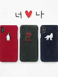 Недорогие -чехол для яблока iphone xs / iphone xr / iphone xs max ультратонкий / рисунок с задней обложкой животное / мультфильм текстиль