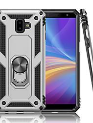 billige -luksus rustning blød stødtæt taske til Samsung Galaxy S4 plus J6 plus silikone tpu kofanger til Samsung Galaxy S4 2018 J6 2018 bil metal magnetisk fingerring cover