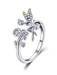 Недорогие -новое поступление 925 фея стерлингового серебра&усилитель; цветок маргаритки открытый размер перстни женщины свадебные обручальные украшения