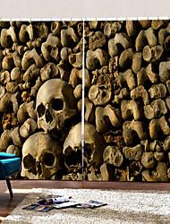 Недорогие -затемнение теплоизоляционные отверстия бесплатная установка шторы уф цифровая печать хэллоуин скелет стены фон занавес
