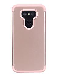 Недорогие -Кейс для Назначение LG LG G6 Защита от удара Кейс на заднюю панель Однотонный ПК / силикагель