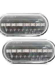 Недорогие -светодиодный автомобиль янтарный сигнальная лампа боковой проточной воды индикаторные лампочки для Volkswagen Golf Bora Passat