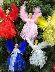 Недорогие -Рождественский плюшевый ангел очарование ребенка милая кукла кукла подарок рождественская елка кулон