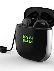 billige -LITBest LX-WK6 TWS True Wireless Hodetelefon Trådløs EARBUD Bluetooth 5.0 Med mikrofon