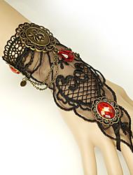 billige -Dame Rød Vintage Armbånd Ringarmbånd Øredobber / armbånd Retro Edderkopper Statement Vintage trendy Gotisk Mote Harpiks Armbånd Smykker Svart Til Halloween