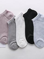 Недорогие -Жен. Тонкая ткань Носки - Мода / Черный и белый / Кружева 30D Цвет радуги Один размер