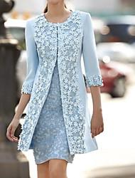 Недорогие -Жен. Из двух частей Платье - Однотонный Выше колена