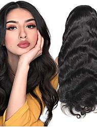 Недорогие -человеческие волосы Remy Лента спереди Парик Свободная часть стиль Бразильские волосы Естественные кудри Нейтральный Парик 130% 150% 180% Плотность волос