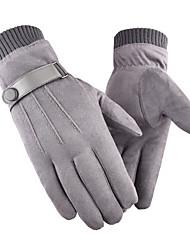 abordables -Gants Tactiles Coupe Vent Respirable Chaud Gants sport Hiver Polaire Noir Grise Jaune pour Adulte Activités Extérieures Gants d'activité & du sport