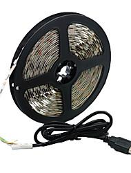 billige -5m usb fleksible led lysstrimler 300 leds 5050 smd varm hvit / hvit / rød vanntett / fest / dekorativ 5 v 1 sett