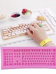 Недорогие -форма клавиатуры компьютера силиконовые помады плесень сахар шоколадный торт украшение формы для выпечки
