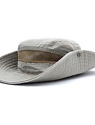 Недорогие -Универсальные Классический Широкополая шляпа Хлопок Джинса,Однотонный Все сезоны Черный Светло-коричневый Военно-зеленный