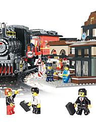 Недорогие -AUSINI Конструкторы 301 pcs Шлейф Cool Оригинальные Электрический Поезд Поезда и наборы железной дороги Мальчики Игрушки Подарок