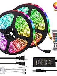Недорогие -KWB светодиодные полосы света комплект не водонепроницаемый SMD 5050 10 мм 32,8 фута (10 м) RGB 300leds с 44-клавишным ИК-контроллером и блоком питания
