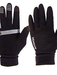abordables -Gants Tactiles Coupe Vent Respirable Chaud Gants sport Hiver Polaire Noir Marron Grise pour Adulte Activités Extérieures Gants d'activité & du sport