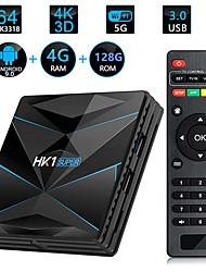 Недорогие -HK1 Super Smart TV Box Android 9.0 Rockchip RK3318 Quad Core 64 4 К 4 ГБ 128 ГБ 2.4 Г 5 г Wi-Fi BT4.0 HD медиаплеер