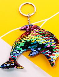 Недорогие -Брелок Дельфин корейский Мода Цветной Модные кольца Бижутерия Радужный / Пурпурный / Красный Назначение Повседневные