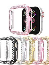 Недорогие -двухрядные часы с бриллиантами для Apple Watch серии 4/3/2/1 кейс для женщин с бриллиантами для iwatch 40мм / 44мм / 38мм / 42мм