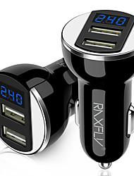 Недорогие -автомобильное зарядное устройство на буксире два цифровой дисплей 5v 2a автомобильное зарядное устройство электрический gps навигатор универсальная зарядная головка