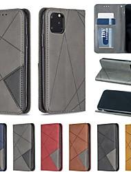 Недорогие -Кейс для Назначение Apple iPhone 11 / iPhone 11 Pro / iPhone 11 Pro Max Бумажник для карт / со стендом / Флип Чехол Геометрический рисунок Кожа PU