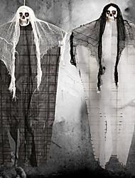 Недорогие -Хэллоуин призрак кулон с искусственным пластиком свет черепа Хэллоуин украшения ужас висит на вечеринке патио бар дом с привидениями