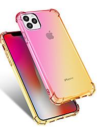 Недорогие -Кейс для Назначение Apple iPhone 11 / iPhone 11 Pro / iPhone 11 Pro Max Защита от удара / Защита от пыли Кейс на заднюю панель Градиент цвета ТПУ