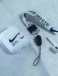 Недорогие -Кейс для Назначение AirPods Защита от удара / Защита от пыли / С узором Чехол для наушников Мягкий