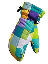 Недорогие -Зимние Лыжные перчатки Мальчики и девочки Дети Снежные виды спорта Полный палец Зима Водонепроницаемость С защитой от ветра Сохраняет тепло Полиэстер / хлопок