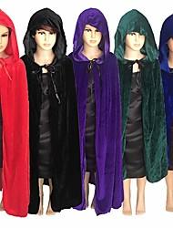 Недорогие -Хэллоуин дети взрослые дети смерть ведьма демон дьявол длинные плащи с капюшоном косплей костюмы рождественский подарок подарок
