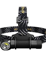 Недорогие -Nitecore HC33 Налобные фонари 1800 lm Светодиодная лампа LED 1 излучатели Простота транспортировки Походы / туризм / спелеология Повседневное использование Рыбалка Черный