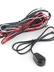 Недорогие -12v 40a светодиодный рабочий противотуманный свет лампы бар жгут проводов на выключатель реле США