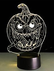 Недорогие -Хэллоуин страшно тыква 3d ночник 7 цветов оптическая иллюзия из светодиодов прикроватная лампа для детской комнаты подарки на день рождения