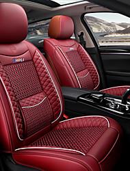 Недорогие -автомобильные принадлежности летние полностью кожаные автомобильные чехлы сидений комплект прохладной подушке подушки сиденья автомобиля четыре сезона универсальный
