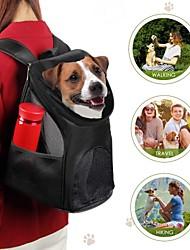 Недорогие -Кошка Собака Переезд и перевозные рюкзаки Животные Корпусы Компактность Дышащий Однотонный Красный Синий Черный