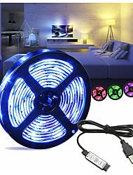 Недорогие -1m Гибкие светодиодные ленты 30 светодиоды SMD5050 RGB USB / Декоративная / Самоклеющиеся Работает от USB 1 комплект