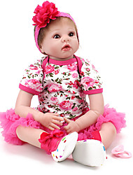 Недорогие -NPK DOLL Куклы реборн Куклы Мальчики Девочки 22 дюймовый Безопасность Экологичные Подарок Детские Универсальные / Девочки Игрушки Подарок
