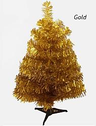 お買い得  -人気の人工クリスマスツリー60センチスノーフレーク新年プラスチッククリスマスツリーホームオーナメントデスクトップ装飾クリスマスツリー