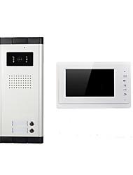 Недорогие -xinsilu xsl-v70f-520-1 проводной многоквартирный видеодомофон 7-дюймовый громкой связи 800480 пикселей два-к одному видеодомофону