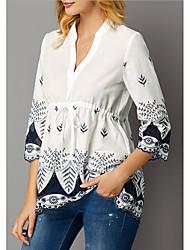 billige -T-skjorte Dame - Geometrisk Hvit